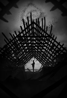 Tribute Art for True Detective. Part of Marko Manev's Noir Series.