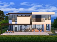 Modern and breezy, the design of this house is largely based on the design created by award-winning teams at Belzberg Architects and MLK Studio. Found in TSR Category 'Sims 4 Residential Lots' Sims 4 Modern House, Modern Family House, Sims 4 House Design, Sims 4 House Plans, Sims 4 House Building, Sims Free Play, Sims 4 Family, The Sims 4 Lots, Sims 4 Studio