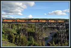 BNSF train @kari alissa Medicine Trestle on The East side of East Glacier Park, Montana is this famous trestle Glacier Montana, Glacier Park, Bnsf Railway, Montana Homes, Big Sky Country, Train Pictures, Model Trains, Places To Travel, East Side