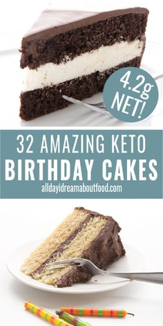 The Best Keto Birthday Cake Recipes Celebrating a birthday? So many delicious birthday cake recipes to choose from. Chocolate, vanilla, and everything in between, all low carb and gluten-free! Healthy Low Carb Recipes, Ketogenic Recipes, Low Carb Keto, Ketogenic Diet, Diabetic Cake Recipes, Cookie Recipes, Diet Recipes, Low Carb Sweets, Low Carb Desserts