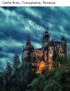Dracula Castle a.a Bran Castle, Transylvania, Romania Chateau Medieval, Medieval Castle, Beautiful Castles, Beautiful Places, Draculas Castle Romania, Bran Castle Romania, Best Places To Travel, Places To Visit, Transylvania Romania