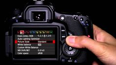 Canon EOS 60D Tutorial - Picture Style Operation 10/14.