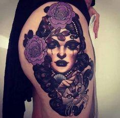 Leg tattoo by Emily rose Murray