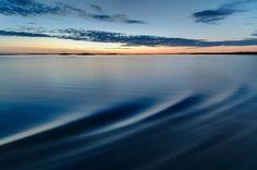 Sunset on the Vänern Lake in Sweden by Mike Louagie