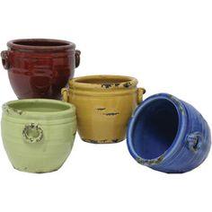 4 Piece Harrison Planter Set, planters, gardening, container gardening, landscaping, Italian, rustic