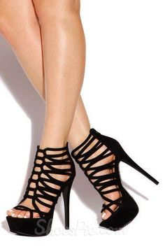 Perfect Cut-Outs Suede Dress Sandals