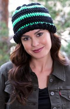 Hats-a-Glow Crochet Hat free pattern #4 weight yarn