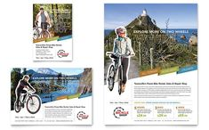 Bike Rentals and Mountain Biking Flyer and Ad Template Design by StockLayouts