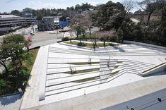 Drawing For Landscape Gardening Landscape Stairs, Urban Landscape, Landscape Design, Landscape Plaza, Stairs Architecture, Landscape Architecture, Architecture Design, Kanazawa, Garde Corps Design