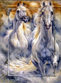 Janice Darr Cua ~ Ladies and horses | Tutt'Art@ | Pittura * Scultura * Poesia * Musica |
