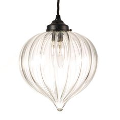 Pendant Lighting | Ava Sparkling Glass Pendant Light | Jim Lawrence