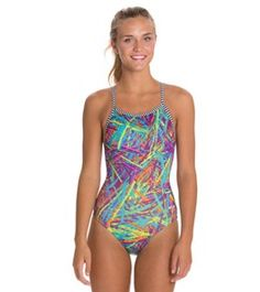 6f1d606e68111 Dolfin Uglies Jagger Print Womens V-2 Back One Piece Swimsuit at  SwimOutlet.com