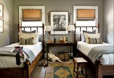 I love this room, boys room or lake/moutain house guest room