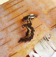 Half Moon Antiqued Brass ADD to your DREADS Dreadlock Accessory Extension Accessories Dread Boho Bohemian Hippie Bead on Etsy, $4.75