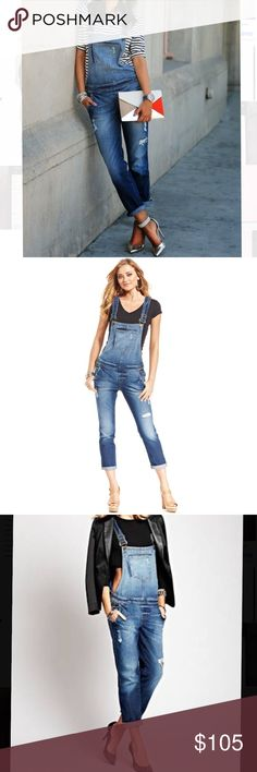 NWT - Guess jean overalls - size 26 Never worn. Excellent condition. Bought at full price. --- No pets, clean home. Accepting offers!! Guess Pants Jumpsuits & Rompers