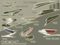 1934 to 1937 Chevrolet hood ornaments
