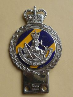 Badges in my own collection. Extremely rare badge. Very hard to find. British South African Police car club.