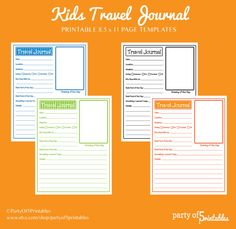 Travel journal template | Note Taking Ideas | Pinterest | Journal ...