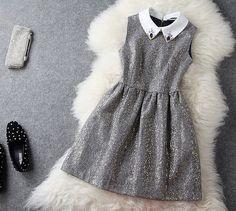 $53.00   Fashion lapel Slim Dress