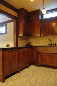 Kitchen, Looking For Photos Of Quarter Sawn Oak Cabinets With Light Granit  For Quarter Sawn Oak Kitchen Cabinets
