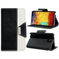 Two Tone Corp Black Leather Samsung Note 3 Case
