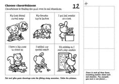 Cut and glue your drawings onto the fitting story scenarios. Color the pictures.
