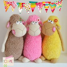 One sheep, two sheep, three sheep - I love them all :-) - Magic with hook and needles
