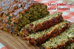 Using Mom's meatloaf flavorings, we created a little something new for Meatless Mondays--Mom's Meatloaf Made Meatless. You won't believe there's no meat.