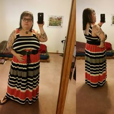 "summer outfit: #eshakti #effyourbeautystandards #plussizeootd, crocs flipflops (will pair with black wedges later), bravissimo 38K bra, Ross belt, etsy knit needle gauge check. My curvy measurements 51""b-42""w-43.5""h & >5; I hope this helps myself & others contemplating style and plus sized apple inverted triangle fashion. 6-15"
