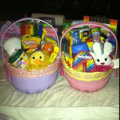 Ideas for an easter basket for a 25 year old girl cool crafts 8 year old and 2 year old girlie easter baskets negle Image collections