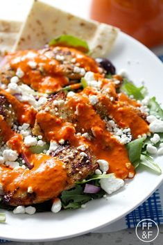 Let's Eat | Grilled Chicken Salad with Roasted Red Pepper Dressing | Food Fashion and Fun.