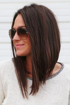Long bob hairstyles and haircuts are easy to wear but require a quick styling method. You can style your lob as a down up do or lift your locks in a sort length hair styles easy long bobs 45 Cute Long Bob Hairstyles And Haircuts In 2017 Medium Length Hairstyles, Long Bob Hairstyles For Thick Hair, Hair Bob Long, Long Bob Haircuts With Layers, Long Curly, Angled Bob With Layers, Short Haircuts, Angled Bob Haircuts, Inverted Bob Hairstyles