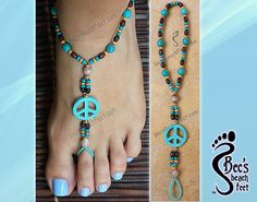 Hippy Chic Foot . Foot Jewelry & Barefoot Sandals by BecsBeachFeet