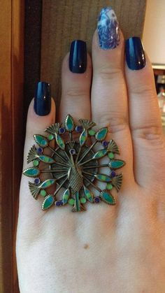 #AUCTION Check out #Painted #Peacock #Ring, Adjustable Band, 12 GRAMS #Unbranded #Statement http://www.ebay.com/itm/-/252761034934?roken=cUgayN&soutkn=kaa8sE via @eBay