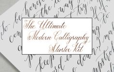 The Ultimate DIY Modern Calligraphy Starter Kit – The Postman's Knock Calligraphy Supplies, Learn Calligraphy, Calligraphy Letters, Modern Calligraphy, Calligraphy Lessons, Adventure Time Tattoo, Postman's Knock, Brush Lettering, Lettering Ideas