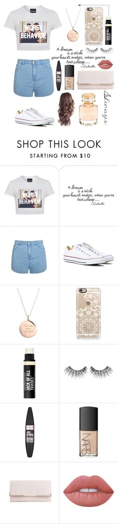 """""""Always and Forever"""" by rhiannonpsayer ❤ liked on Polyvore featuring Ally Fashion, Converse, Kate Spade, Casetify, Bare Escentuals, MAKE UP FOR EVER, Maybelline, NARS Cosmetics, French Connection and Lime Crime"""