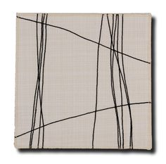 Short Story #1  ©2016 Carol Trice Cotton, Thread, mounted on canvas 10 x 10 X .75 inches