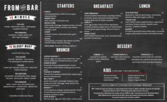 Brunch Menu Design