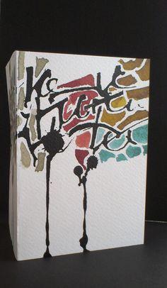 Kaart - Sumi inkt en bister (de voorkant). Ontwerp Marjolein Copius Peereboom