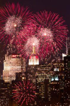 NYC. Pre-NYC Marathon fireworks at Central Park // by Inga Sarda Sorensen