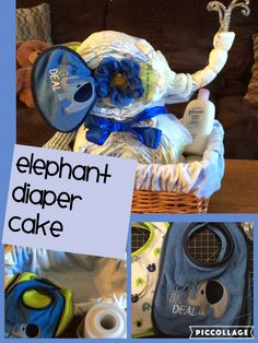Elephant diaper cake #elephant theme nursery#craftyconjuring/youtube