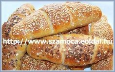 """Wellness"" kifli Hot Dog Buns, Hot Dogs, Ring Cake, Bagel, Scones, Bread, Recipes, Hungary, Food"