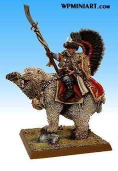 Warhammer Tsar Boris of Kislev on Bear