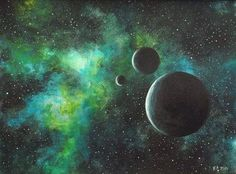 Image result for images galactic paintings in watercolor