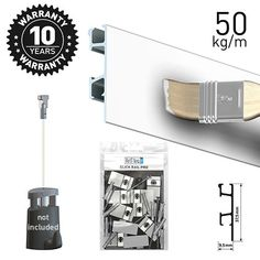 Simple and discreete picture hanging system with Artiteq Click Rail Pro. Seamless design, modern and strong ideal for home, office gallery. Picture Rail Hanging, Hanging Rail, Hanging Wire, Picture Wall, Wooden Easel, Simple Pictures, Kitchen Accessories, Cookware Accessories, Picture Walls