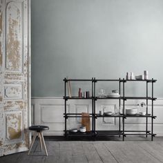 Stick System shelf, 3 x 4, black, by Menu.