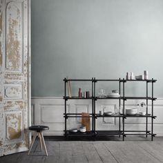 Stick System shelf, 3 x 4, black, by Menu.