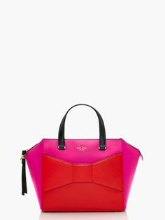 pink & red beau bag | kate spade