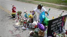 Memorial in Ferguson
