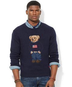 Polo Ralph Lauren Polo Bear Pima Sweater - Sweaters - Men - Macy's
